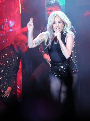 Lady Gaga amped up the energy for her second performance at Coachella Valley Music and Arts Festival on April 22, 2017.
