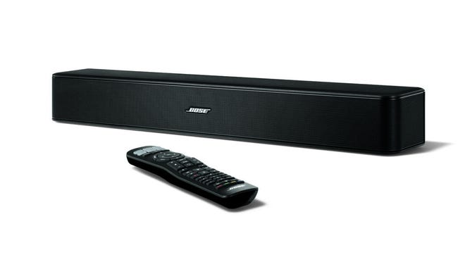 The Bose sound bars, like the Solo 5 TV sound system pictured here, add great sound for your TV in a simple manner.