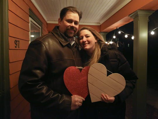 Monika and BJ Dellolio of Nyack at his sister's house