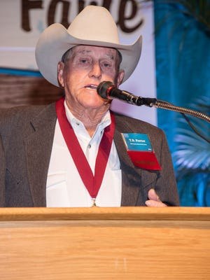 T. Barrett Porter at his induction into the National Cowboy Hall of Fame.  Photo courtesy of the National Cowboy and Western Heritage Museum.