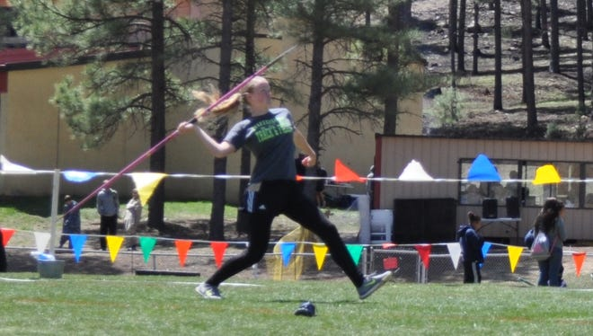 It was a good day for Jesse Midkiff at the Ruidoso invitational Saturday. She racked up two first place finishes in the 100 meter and 300 meter hurdles. Midkiff also placed fourth in the javelin.