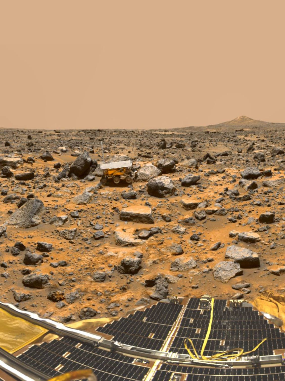 "December 4, 1996: Mars Pathfinder was designed to show the development of ""faster, better and cheaper"" spacecraft was possible. It was the first operational rover on another planet."