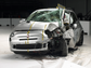 The resulting damage to the Fiat 500