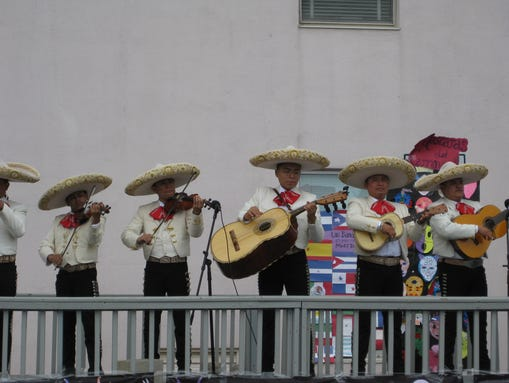 Mariachi Band Performs At The Latino Festival Of Monmouth County
