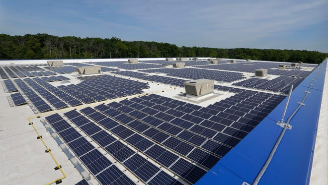Foxconn and WEC Energy Group have been discussing the potential for a rooftop solar array more than 50 times as big as what is now Wisconsin's largest installation, atop the IKEA store in Oak Creek, shown here.