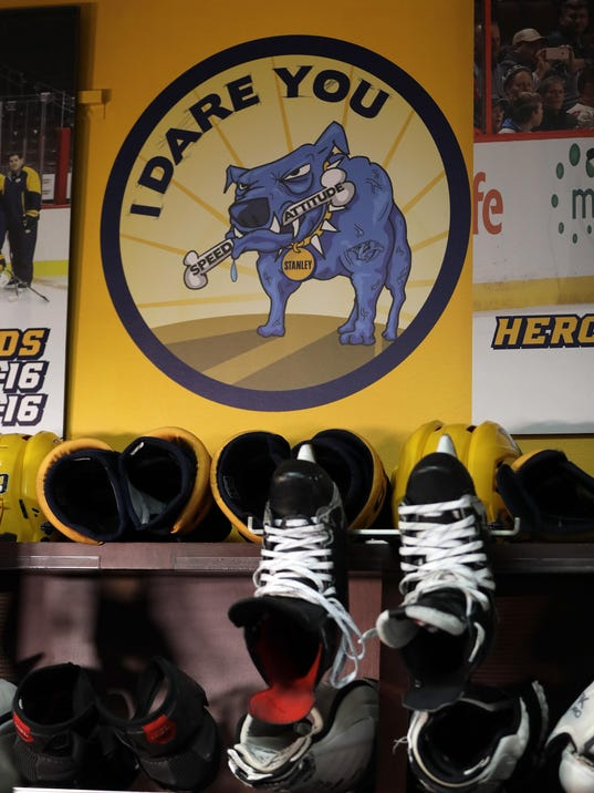 Stanley Cup Predators Dog Hockey
