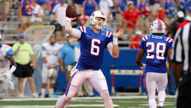 Louisiana Tech quarterback Jeff Driskel transferred from Florida for a fresh start.