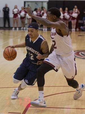 Monmouth Men's Basketball vs Rider University in Lawrenceville, NJ on February 12, 2016.