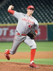 Nick Lee starts for the Cajuns in the third game for The Louisiana Ragin Cajuns  of the Shriners Houston College Classic at Minute Maid Park, February 28, 2016