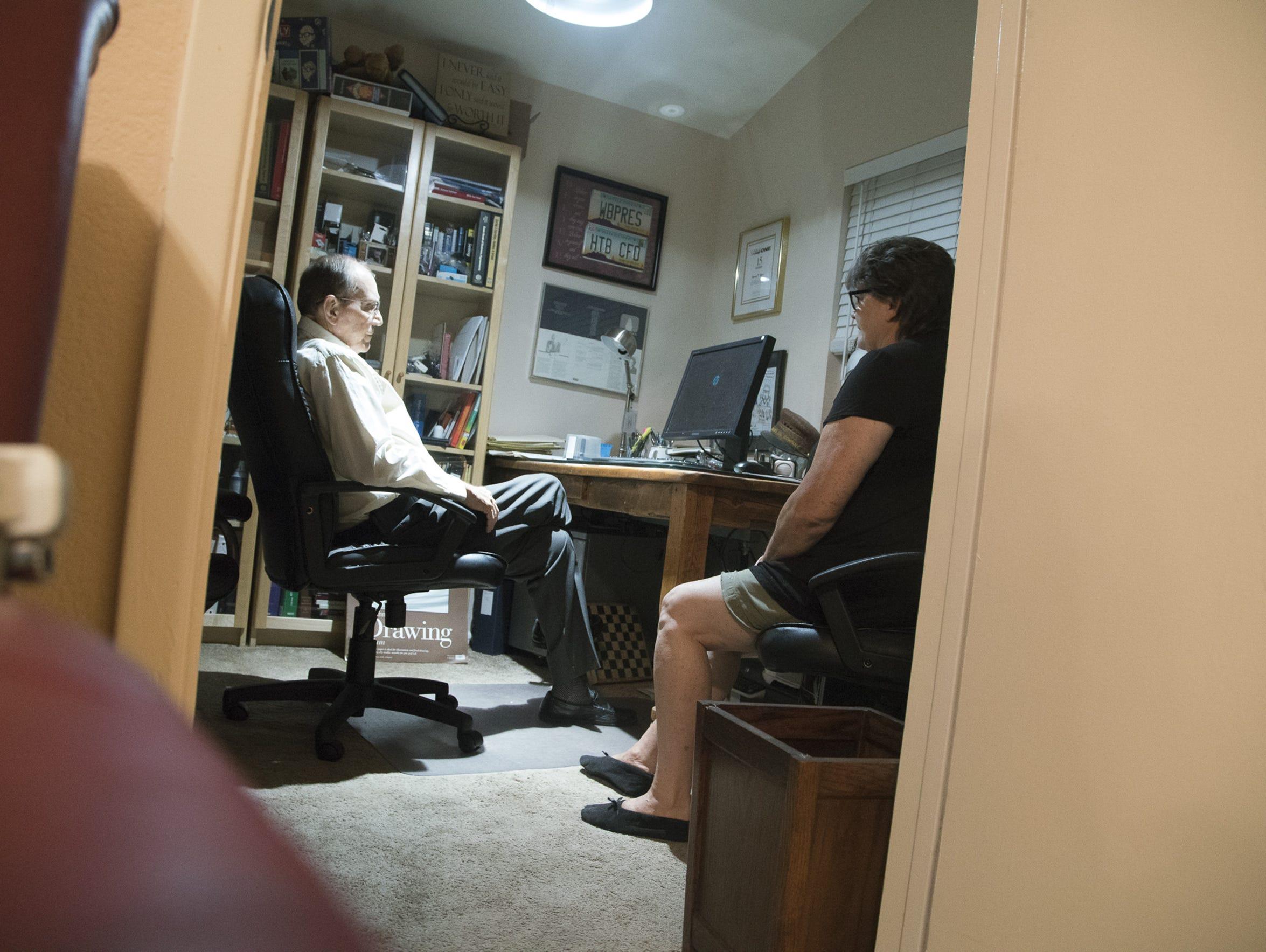 Harvey and Darlene Boyd in their Mesa home.
