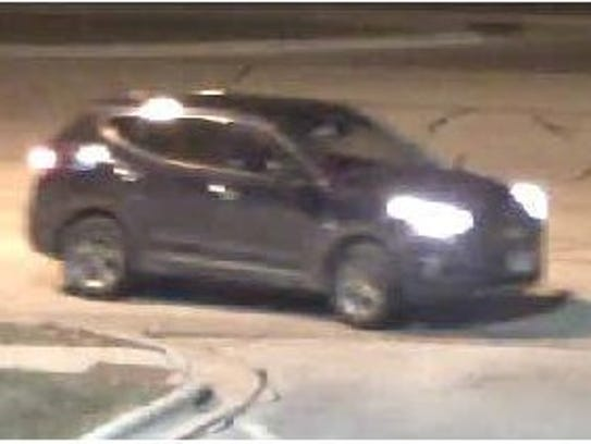 This vehicle is thought to be connected with a man and woman suspected of placing a credit card skimmer at a Howard grocery store.
