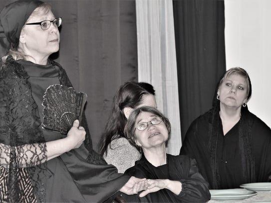 Prudencia (Antoinette Stikl) observes Angustias' ring