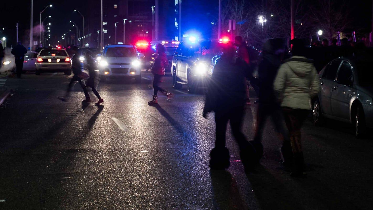 Wayne State campus on lockdown after three teens shot at Noel Night in Detroit