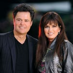 """It's always fun going out with Marie,"" Donny Osmond said of touring with his sister. ""We are more than happy to belt out the songs we're known for."""