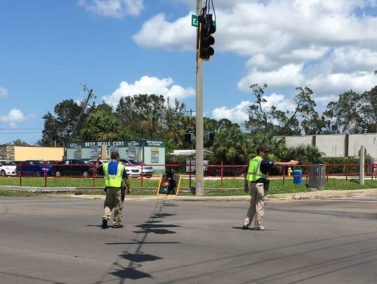 Irma inoperable traffic lights