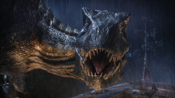 "The Indoraptor brings the menace in ""Jurassic World: Fallen Kingdom."""