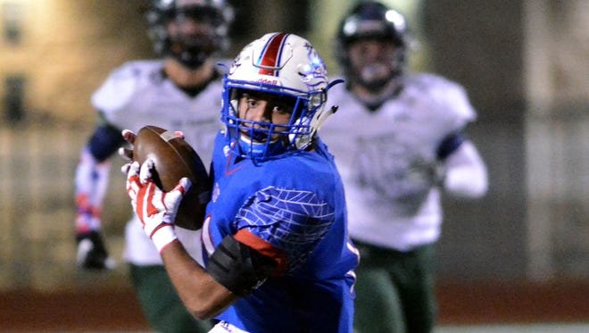 Las Cruces HIgh's Ivan Molina was a first team All-State player this year as a wide receiver and defensive back.