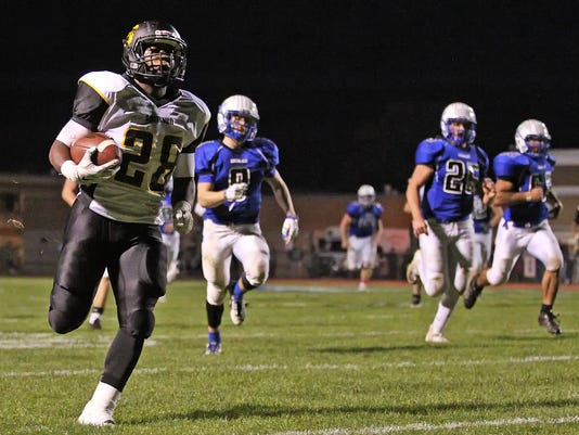Darren Whearry scores vs Cocalico on Friday, October 30, 2015.