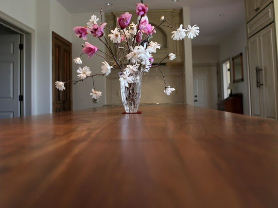 European walnut countertops were the choice of Dan Holloway for his the kitchen renovation.