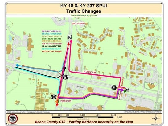 ky 237 and ky 18 map