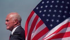 Ohio Sen. John Glenn at a President Clinton campaign