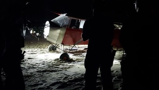 A pilot illegally landed a plane on a secured Coast Guard beach in Cape May on Sunday night.