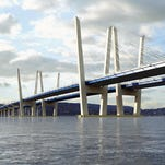 The design for the new Tappan Zee Bridge features a distinctive tuning fork design.