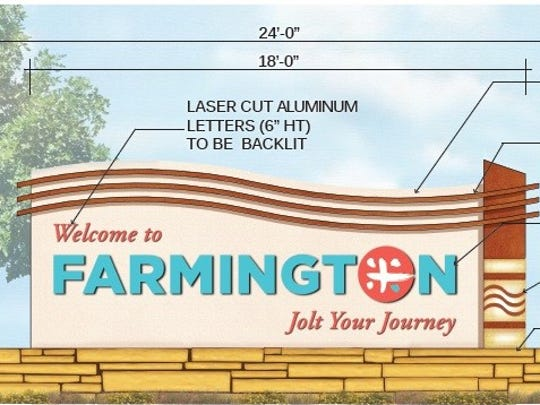 The Farmington Convention and Visitors Bureau plans to install monuments welcoming visitors to Farmington at several sites.