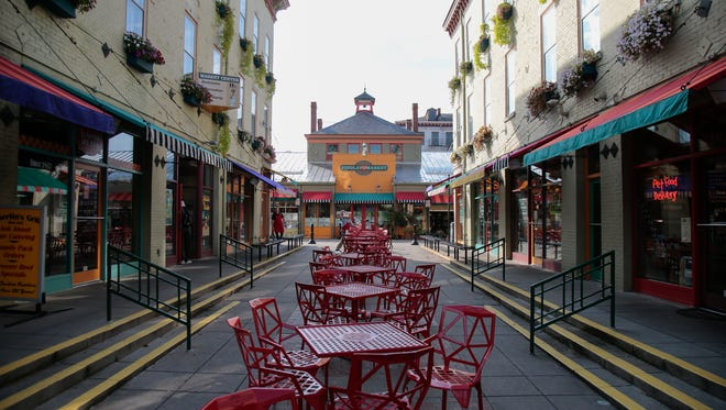 Findlay Market offers visually interesting design and architectural features, pictured, Wednesday, Oct. 5, 2016, at Findlay Market in Over-the-Rhine. The market was recently name one of five Great Public Spaces by the American Planning Association.