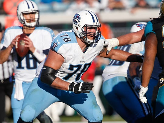 Tennessee Titans offensive tackle Jack Conklin (78)