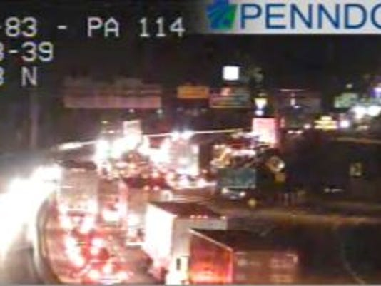 Fire officials are on scene of I-83 in Fairview Township after a five-vehicle crash.
