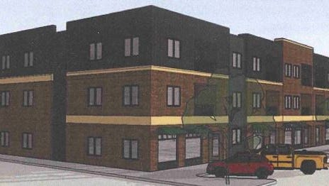 Local development firm 98 Investments LLC plans to build a $4.7 million mixed-use building with about 30 apartments and several storefronts in Uptown Ankeny.