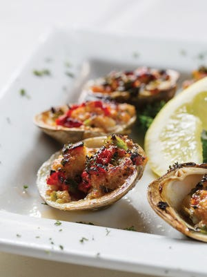 Little neck clams made the classic clams casino a less-bready and tastier appetizer than some versions on other menus.