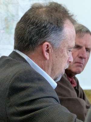 Lincoln County Attorney Alan Morel , lert, convinced Commissioner Tom Stewart the board should hire an attorney with background on the treatment plant issue to represent their concerns about the Rio Ruidoso to the state,