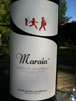 """""""Maraia,"""" the proprietary name for the wine, translates to """"little rascals,"""" which describes the lively, playful and vibrant character of the Barbera wine."""