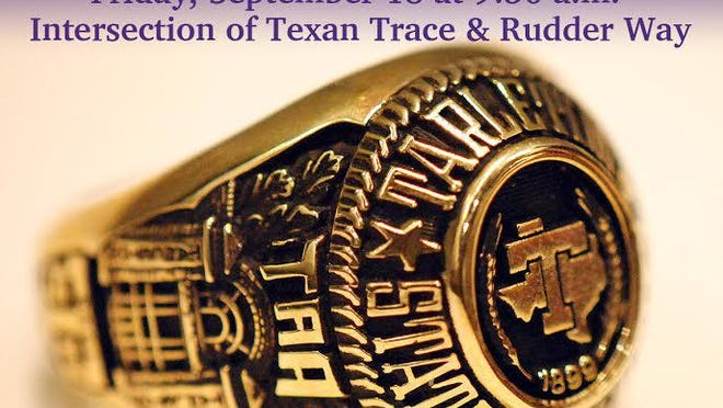 A weekend of celebrations centered around Tarleton State University's new class ring is set for Sept. 18 and 19 on the Stephenville campus.
