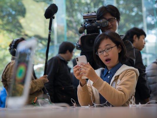 EPA JAPAN APPLE IPHONE X LAUNCH EBF CONSUMER GOODS JPN TO