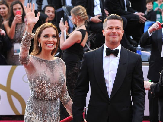 Angelina Jolie and Brad Pitt in March 2014.