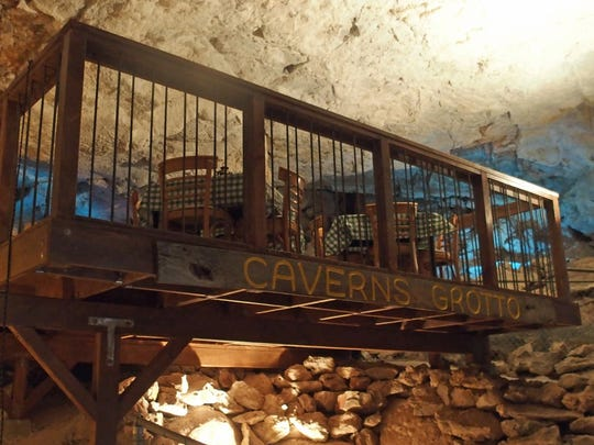 The Caverns Grotto dining platform was designed and installed over a period of four months.