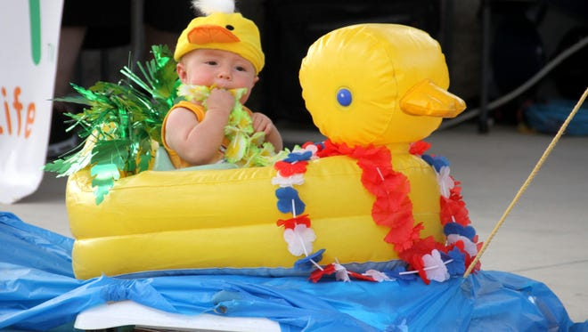 """The """"Just hatched"""" category at the Mizkan Duck Royalty Pageant in August was just one of many entertaining events during the annual Great American Duck Race in Deming."""