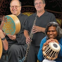 The Scott Davidson Trio will team up with Indian classical musicians Snehasish Mozumder (mandolin) and Rajendra Das (tabla) at the baby grand in Wilmington this weekend.