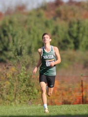 Mason's Mikey Loehr won the Div. I District A cross country race at Voice of America Park in West Chester, Saturday.