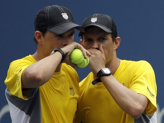 Camarillo natives Bob, left, and Mike Bryan will host their annual  Bryan Bros. Tennis Fest on Sunday at Spanish Hills Country Club.