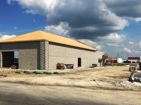 A new car wash being built on Ohio 53 in Fremont should be completed within a month, according to workers at the site.