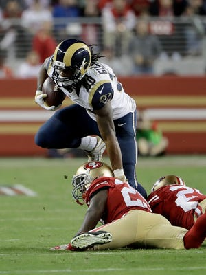 Todd Gurley was held to 47 yards in the Rams' season-opening loss, but hopes to break a big run in their home opener Sunday against Seattle.