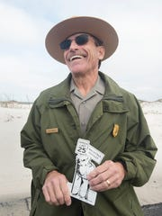 Superintendent Dan Brown discusses how he came up with the idea for the chick magnets at the Fort Pickens National Park.  Wednesday, March 8, 2017.