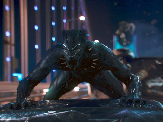 """Chadwick Boseman in """"Black Panther."""" The $200 million film, expected to be the first mainstream blockbuster built around a black superhero, has generated considerable buzz among African-Americans."""