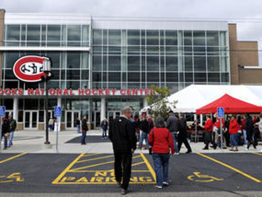 The Herb Brooks National Hockey Center, a local large venue.