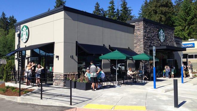 Starbucks opened in May in Poulsbo.