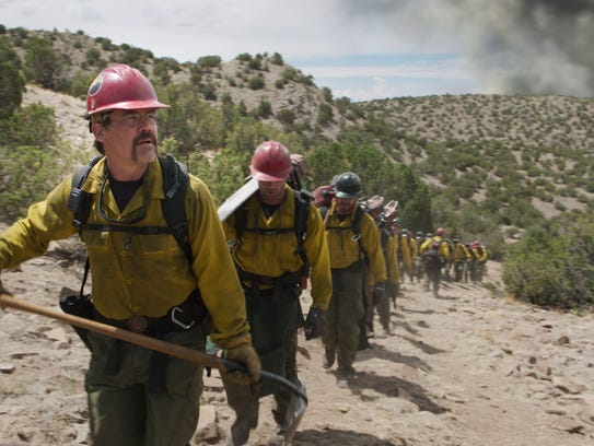 """Eric Marsh (Josh Brolin) leads his crew in """"Only the Brave."""""""